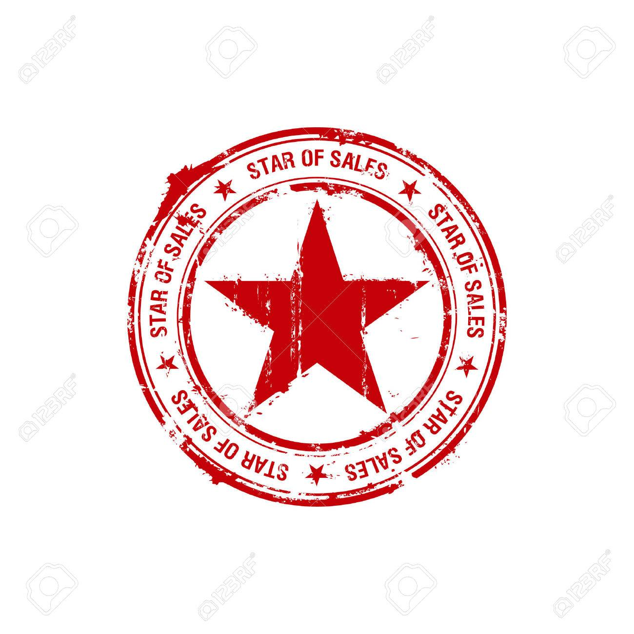 star of sales rubber stamp Stock Vector - 8853048