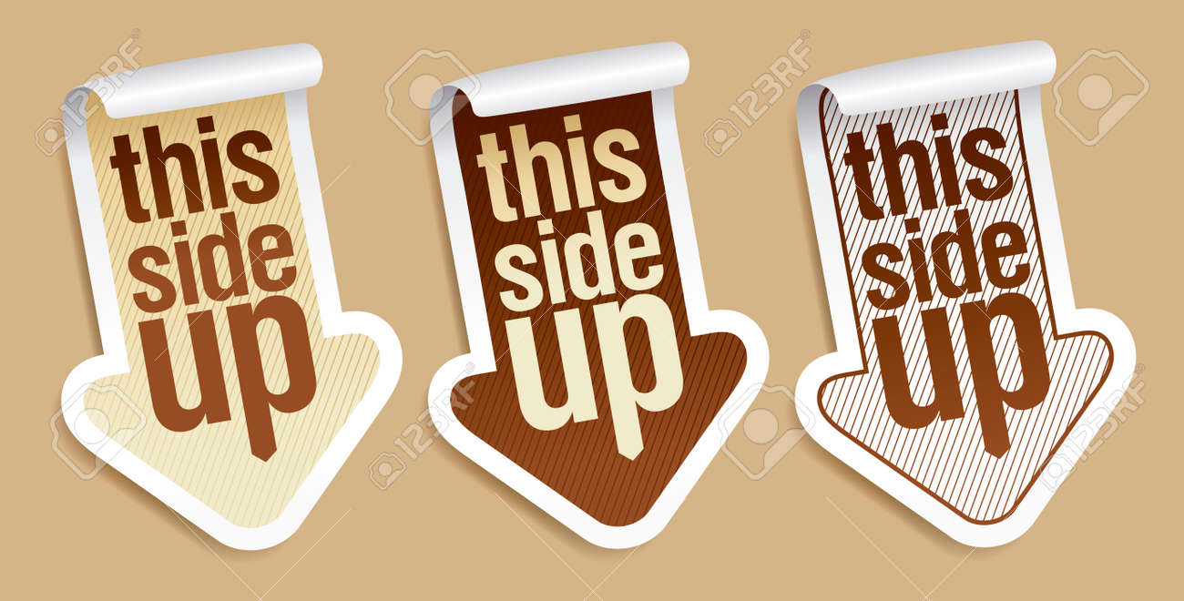 This side up, packing stickers set Stock Vector - 8880920