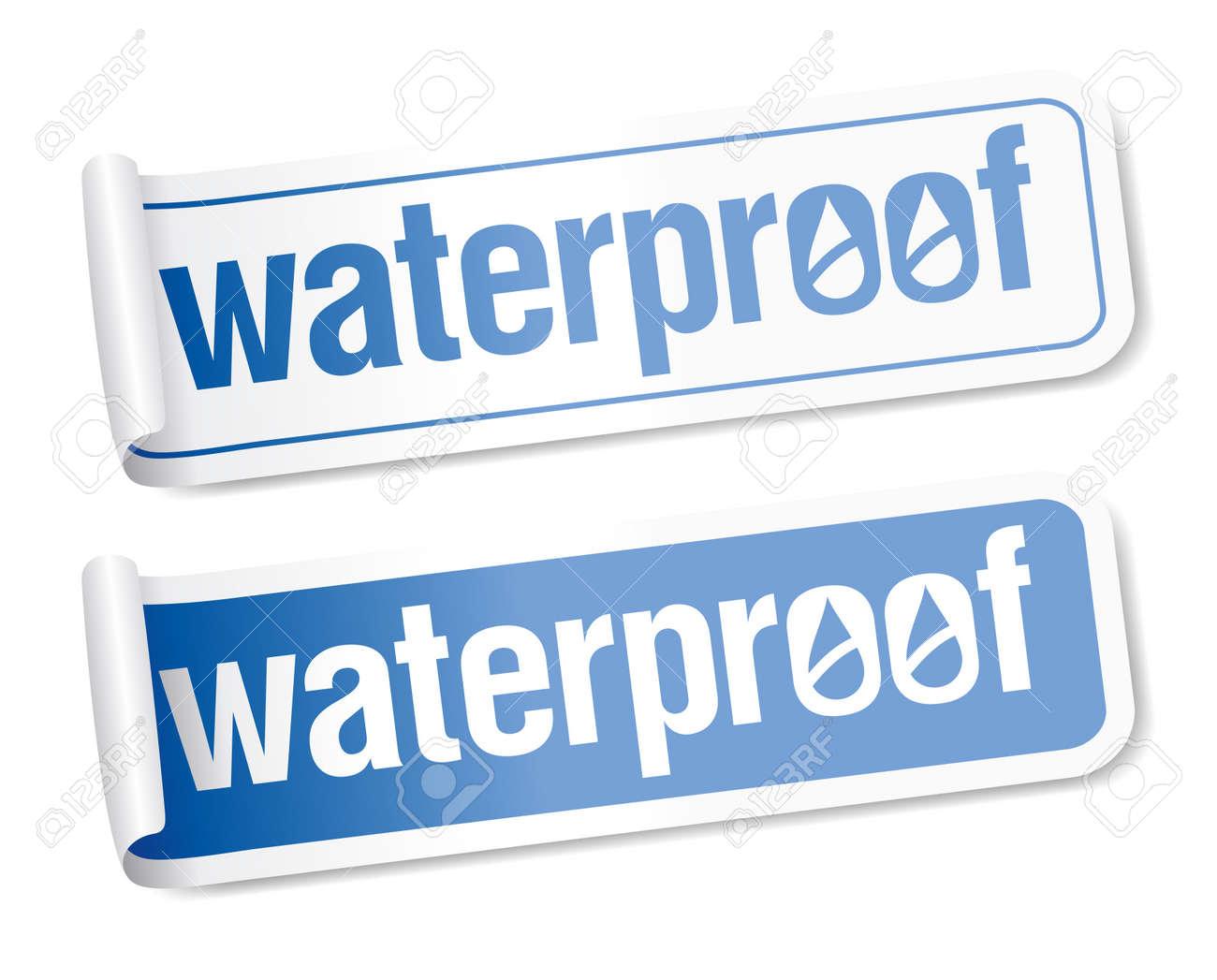 Waterproof stickers set. Stock Vector - 9059519
