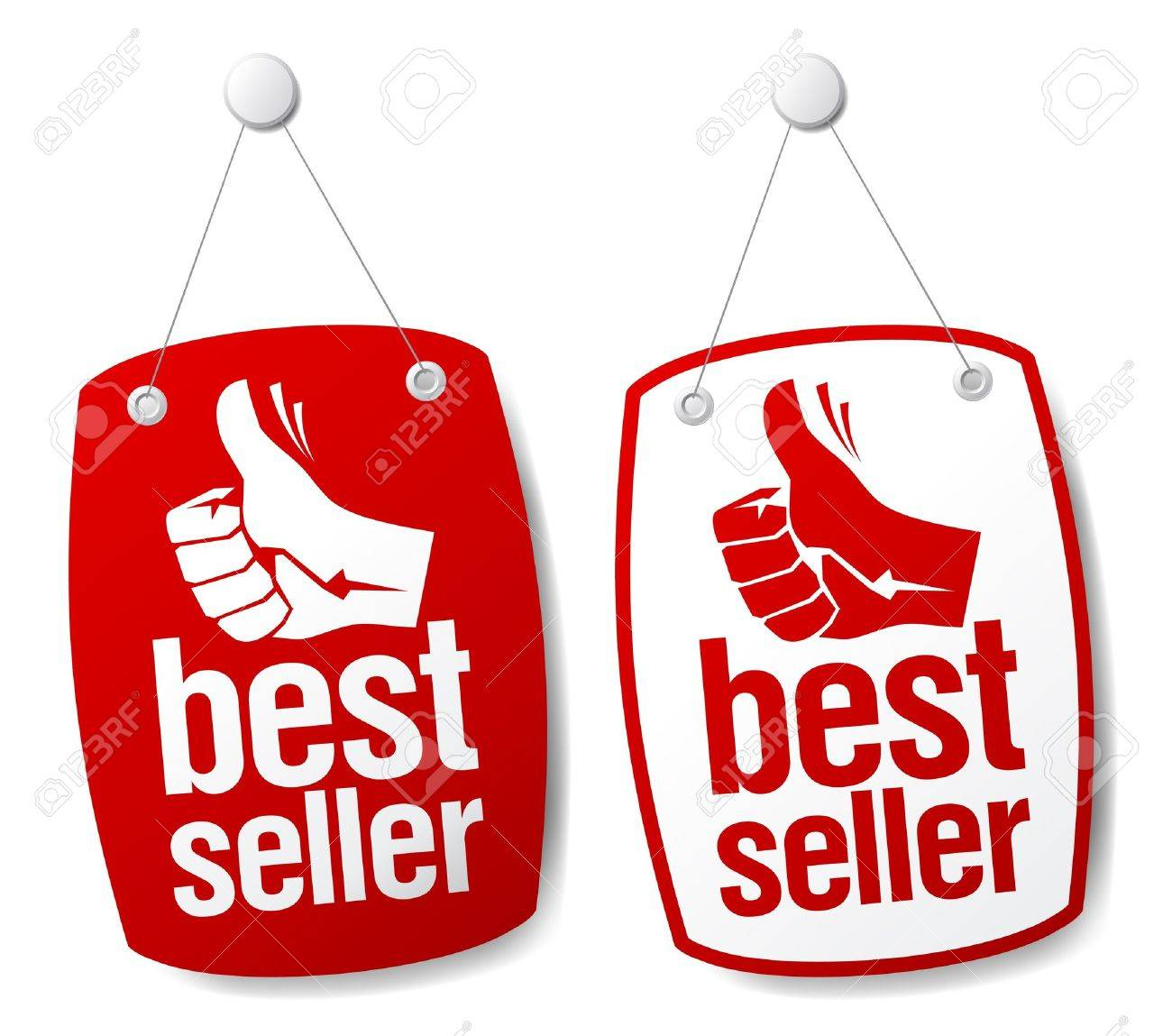 Bestseller signs set. Stock Vector - 9130948