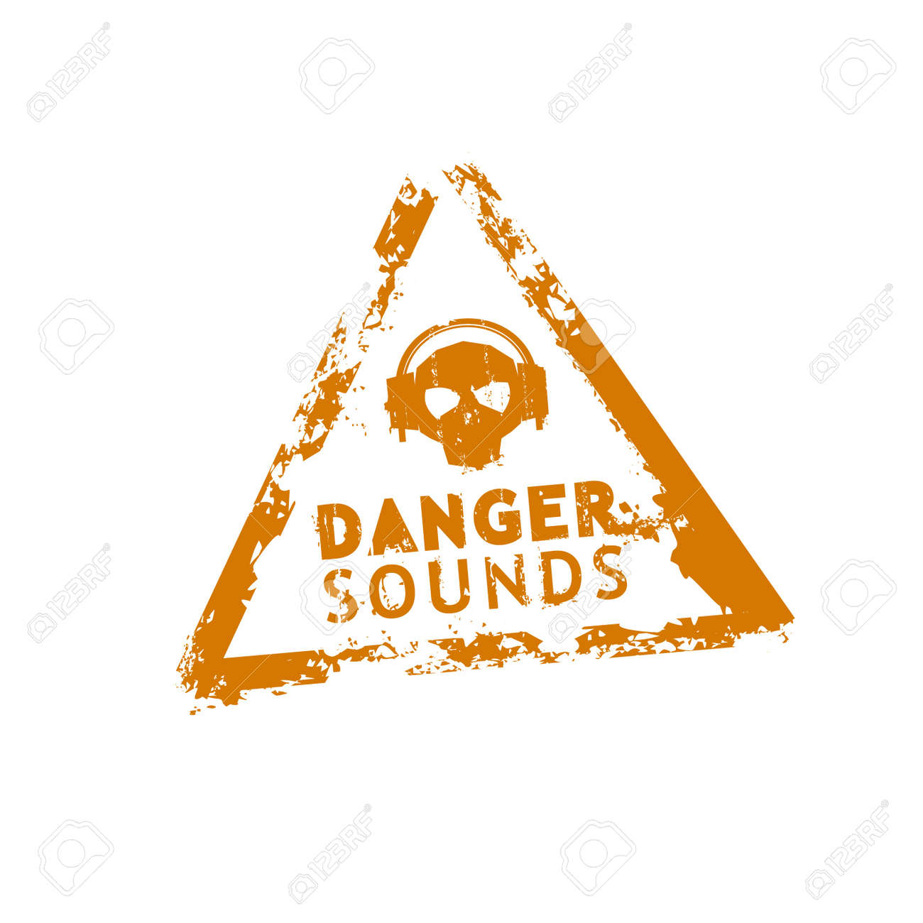 Danger sounds vector rubber stamp Stock Vector - 9130941