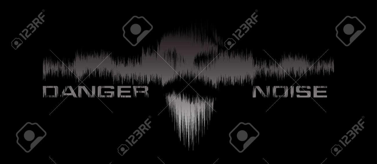 Danger noice vector background Stock Vector - 9171364