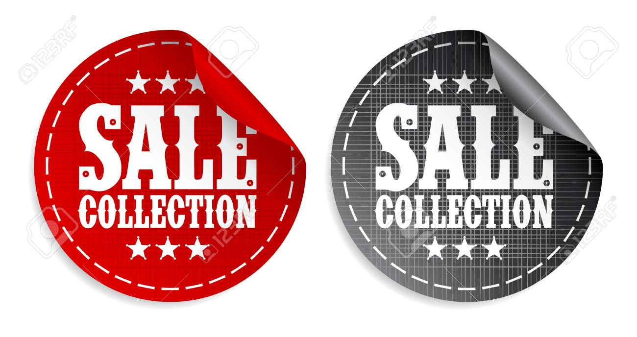 Sale collection tickers set Stock Vector - 9314763