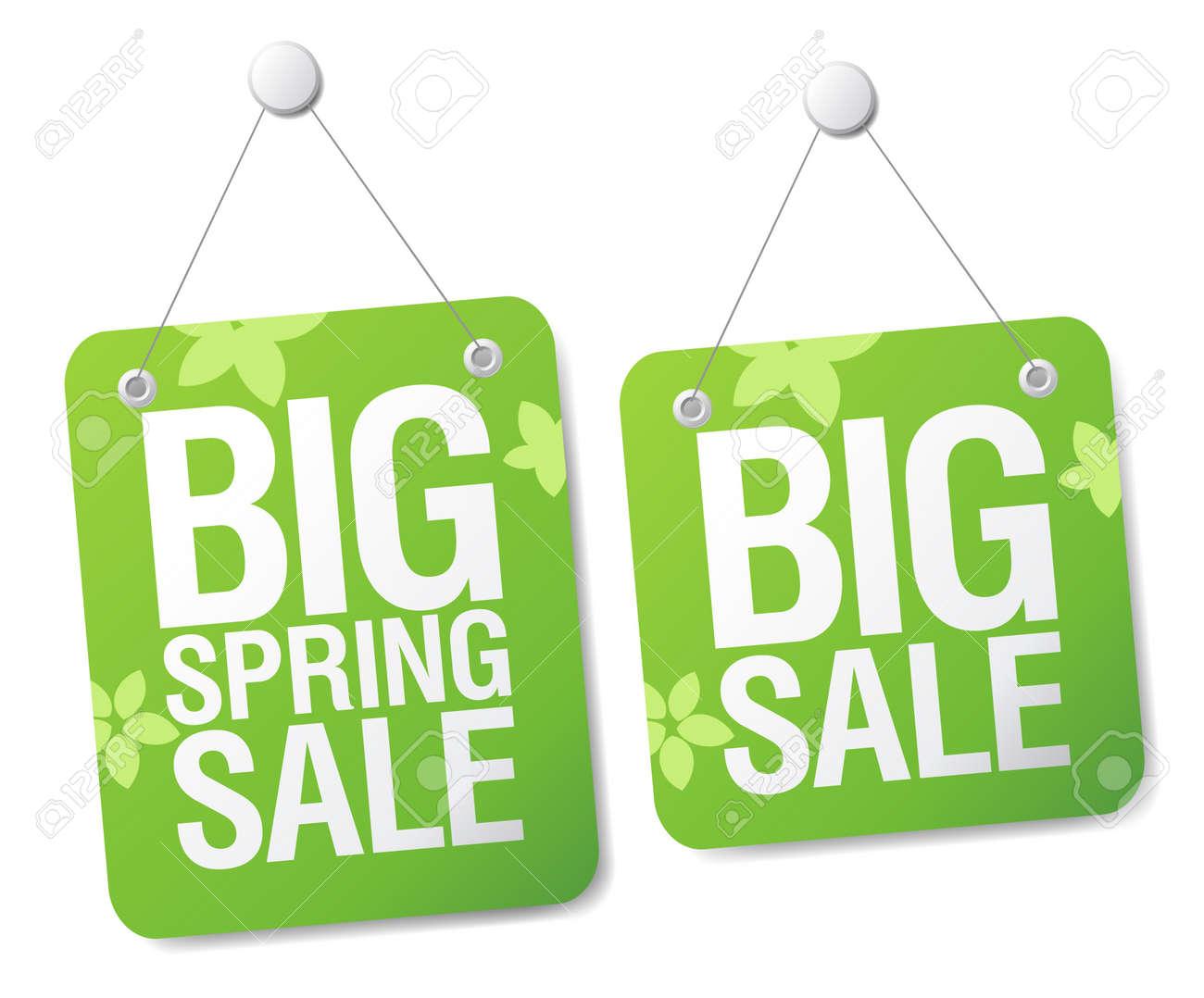 Big spring sale signs set. Stock Vector - 9334445