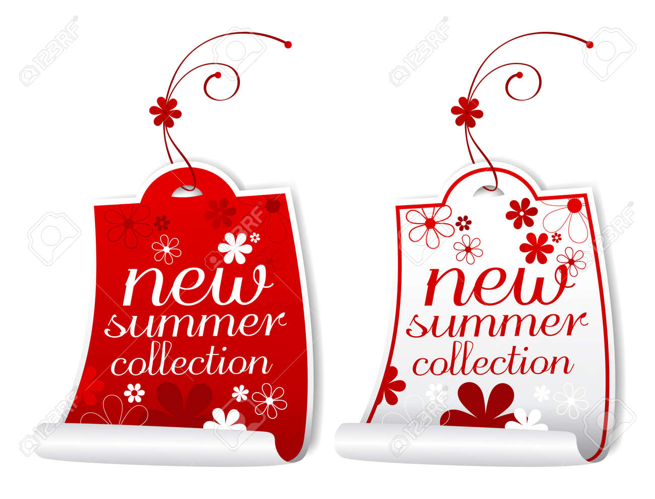 New summer collection labels. Stock Vector - 9334443
