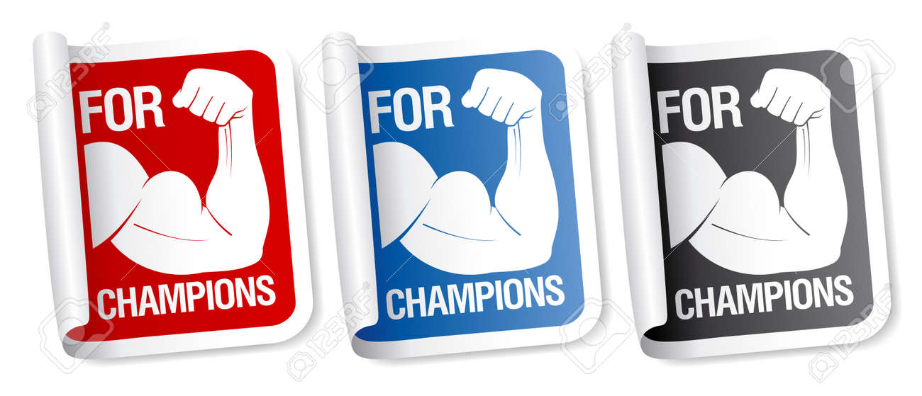 For champions stickers collection. Stock Vector - 9453452