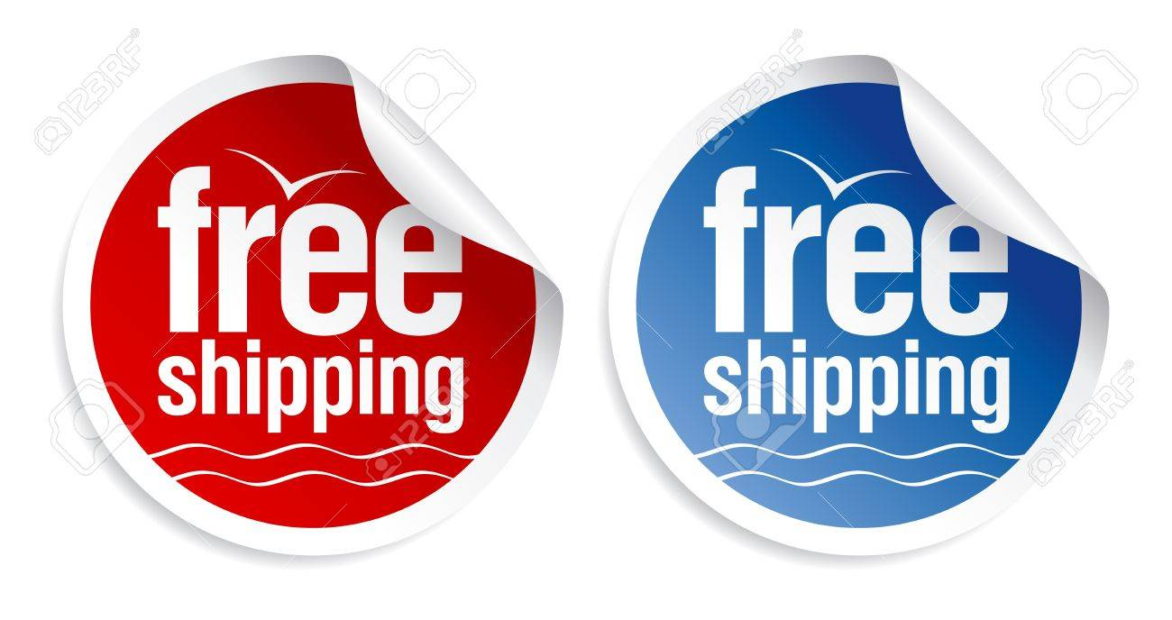 Free shipping stickers set. Stock Vector - 9572428