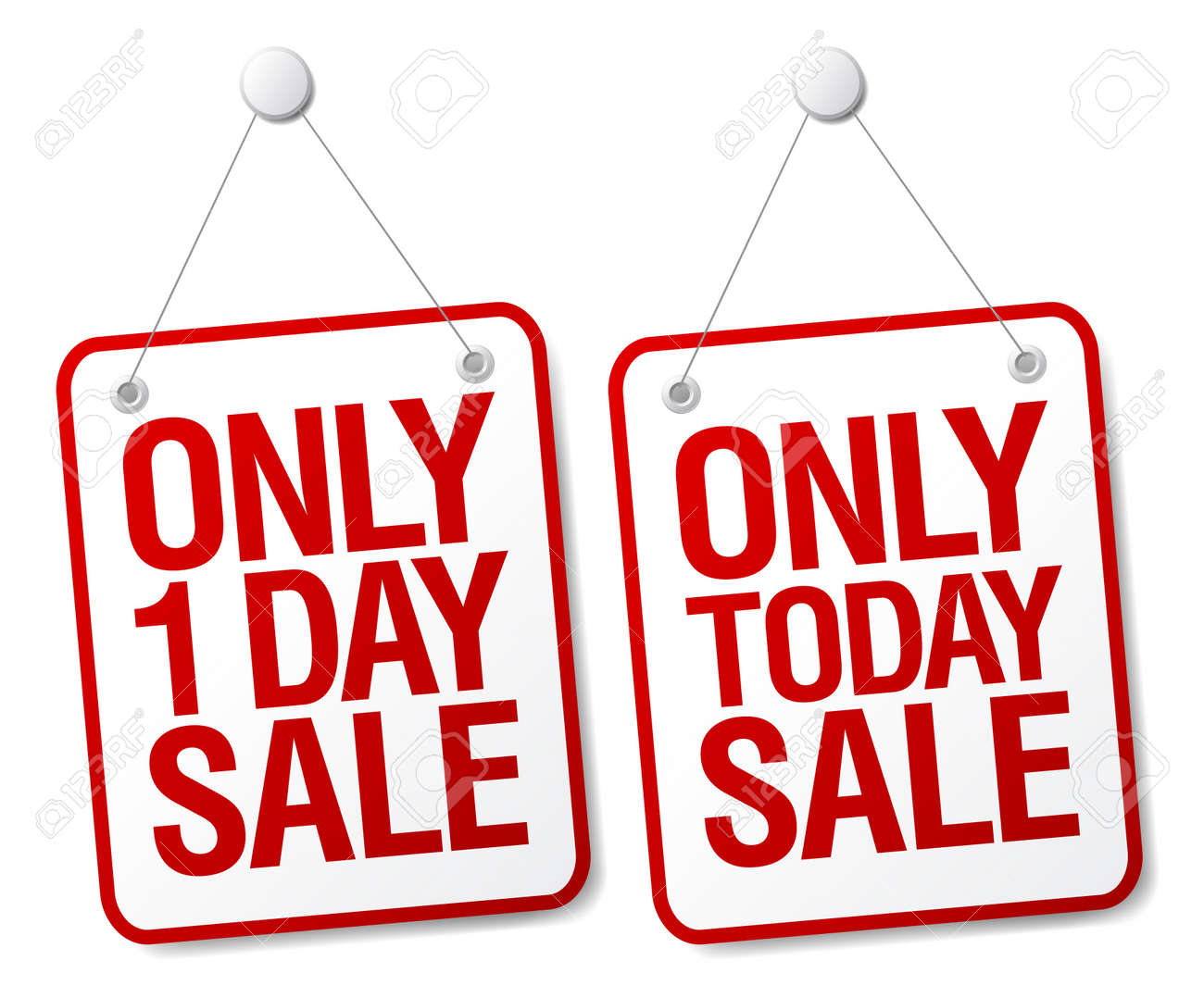 Only today sale signs set. Stock Vector - 9715478