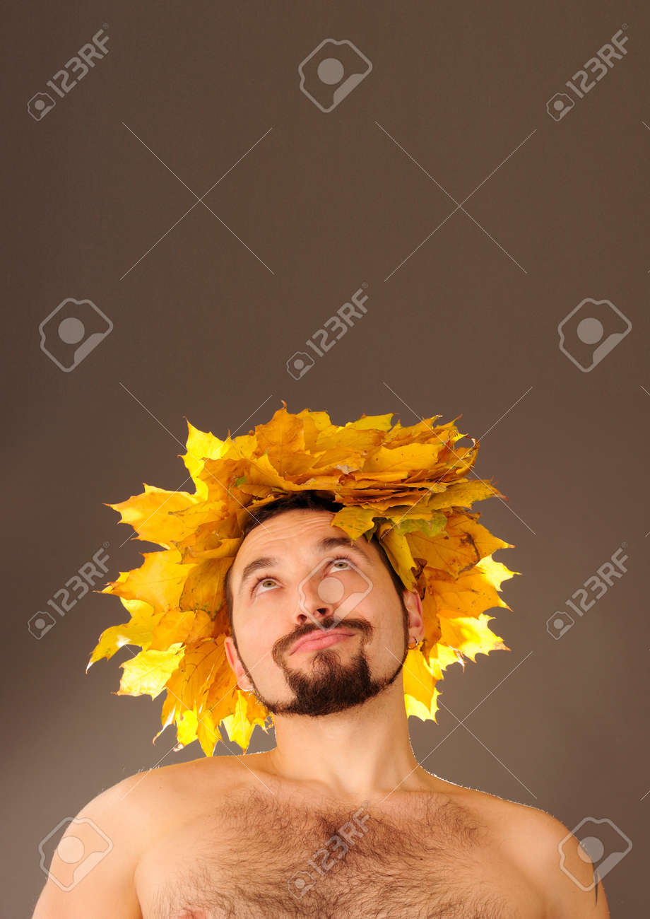 Young autumn man looking up. Stock Photo - 9999644