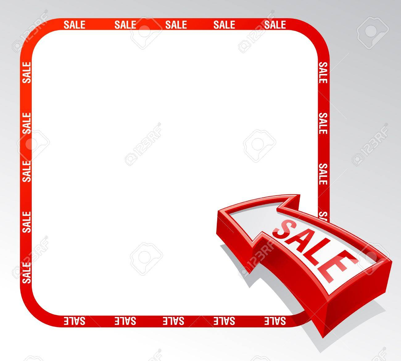 Sale arrow banner with place for text. - 9932574
