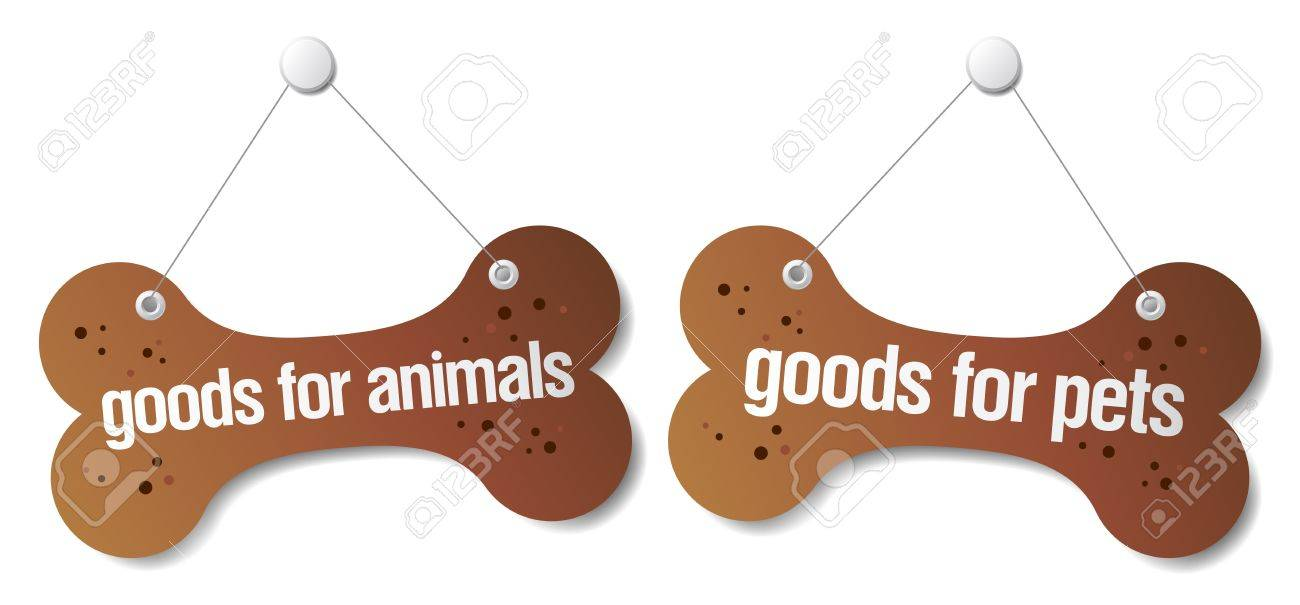 Goods for pets signs set Stock Vector - 10057826