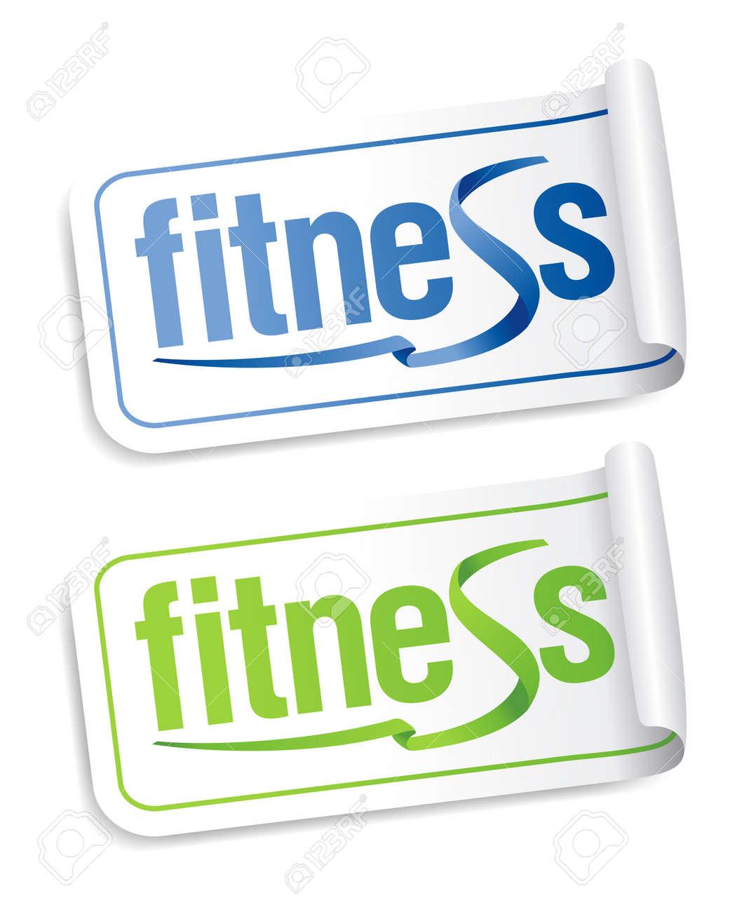 Fitness stickers set. Stock Vector - 10057840