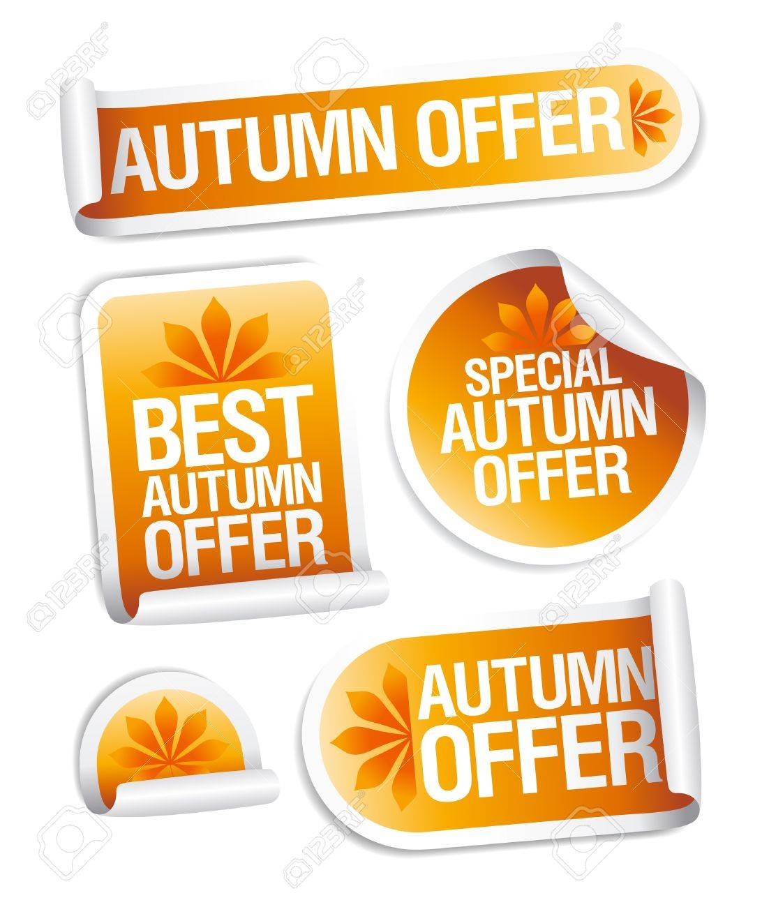 Best autumn offers stickers set. Stock Vector - 10283285