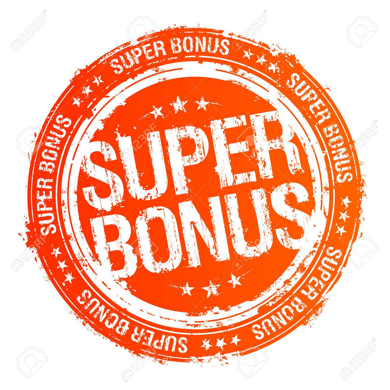 Super bonus vector rubber stamp. Stock Vector - 10283284