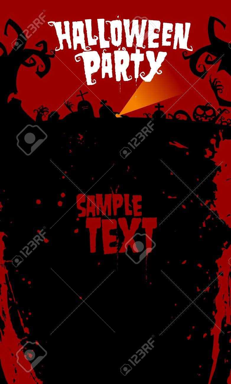 Halloween background for party invitation, with place for text. Stock Vector - 10481845