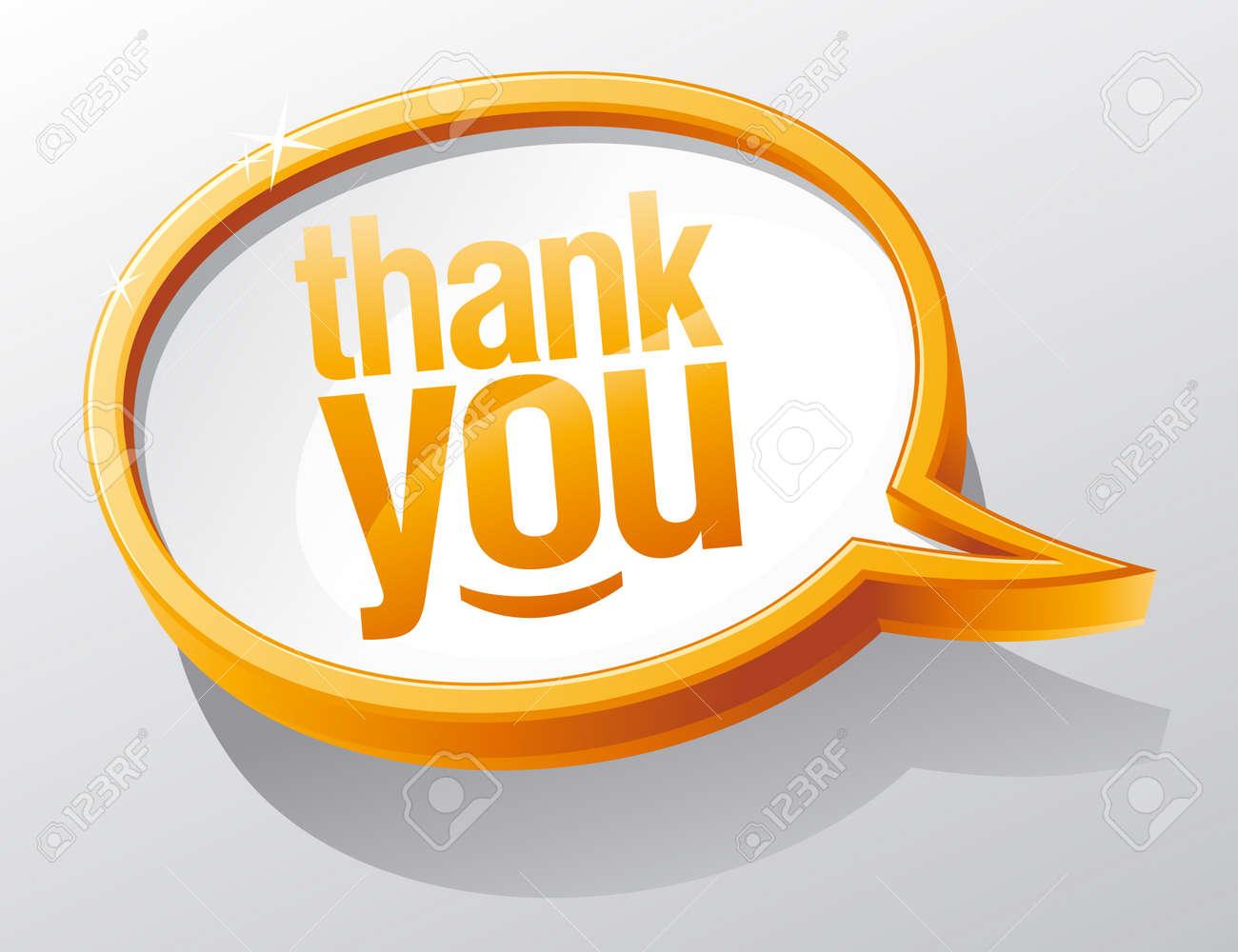Thank you shiny glass speech bubble. Stock Vector - 10957426