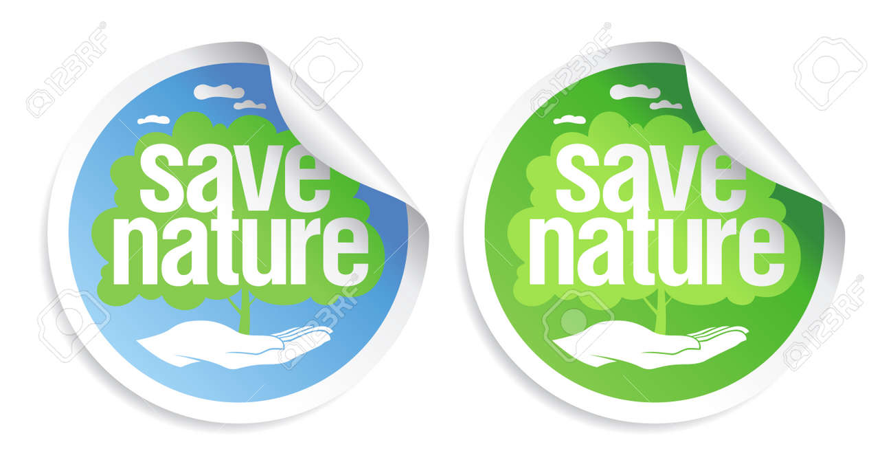 Save nature signs set. Stock Vector - 11011767