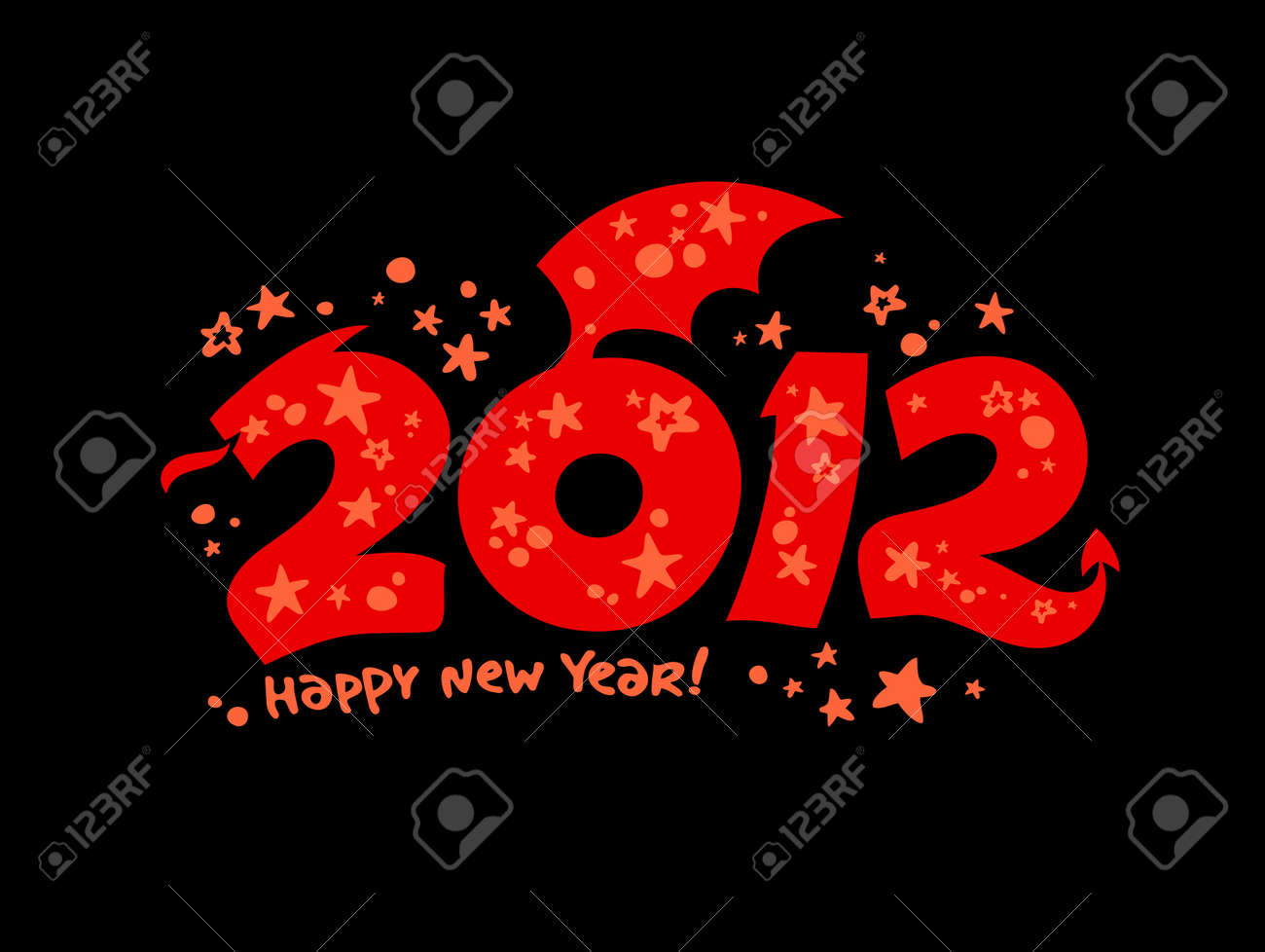 2012 year design in the form of a Dragon. Stock Vector - 11261904