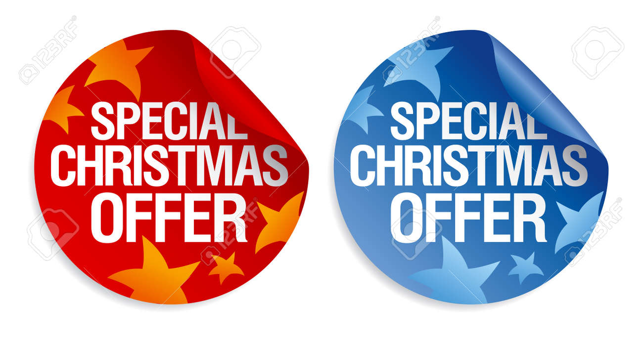 Special Christmas offer stickers set. Stock Vector - 11261312