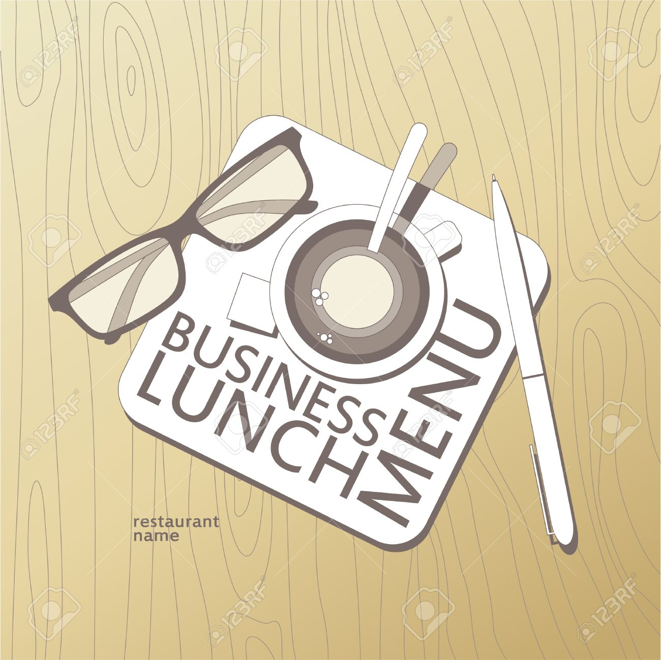 business lunch menu card design template royalty free cliparts