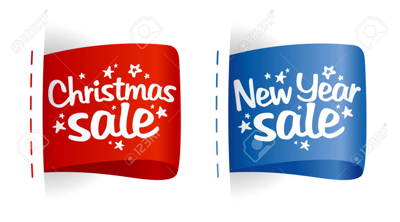 New year and Christmas Sale clothing labels. Stock Vector - 11261942