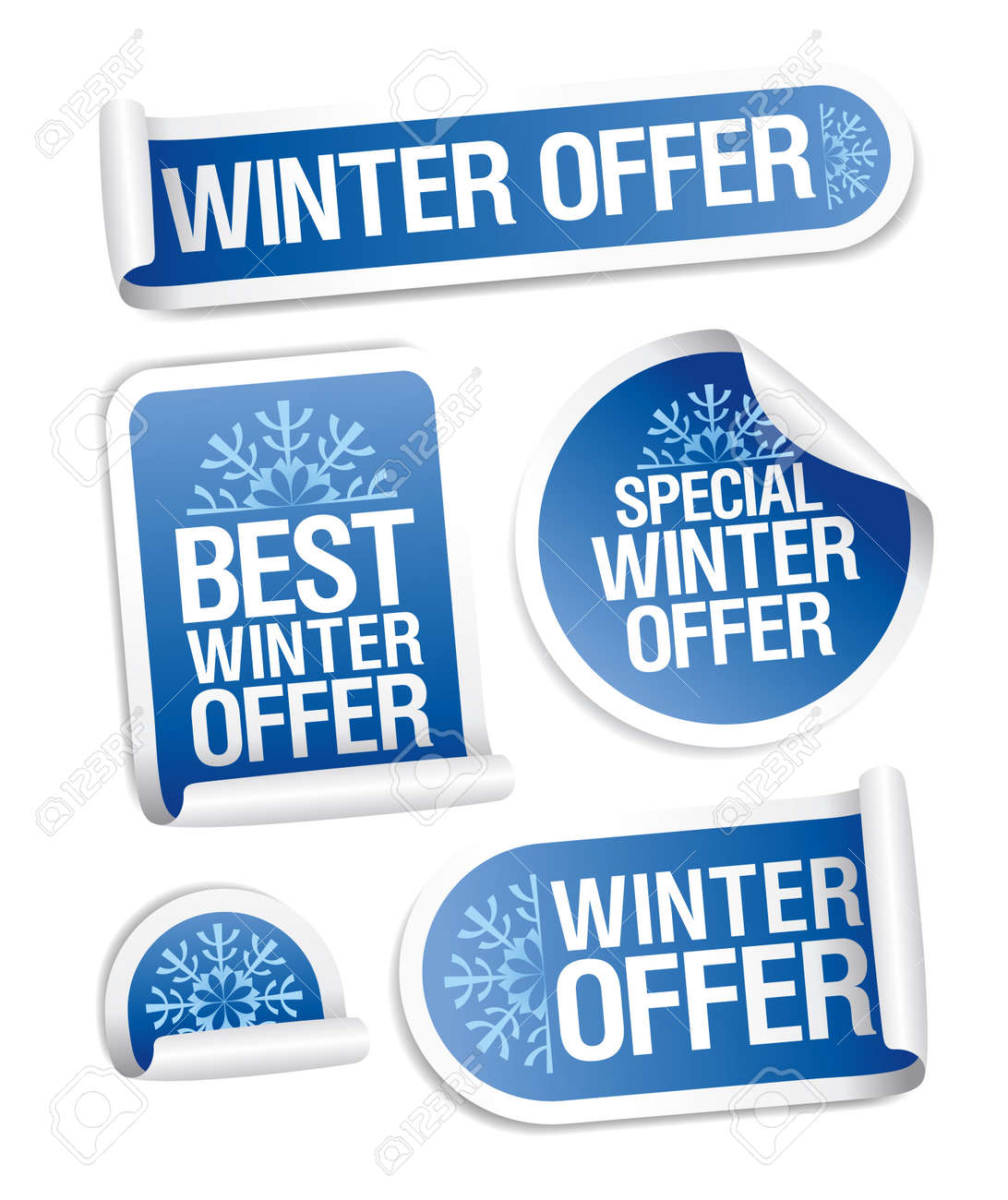 Special winter offer stickers set. Stock Vector - 11261948