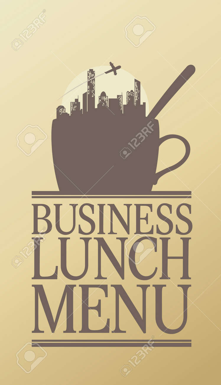 Business Lunch Menu Card Design Template. Royalty Free Cliparts ...