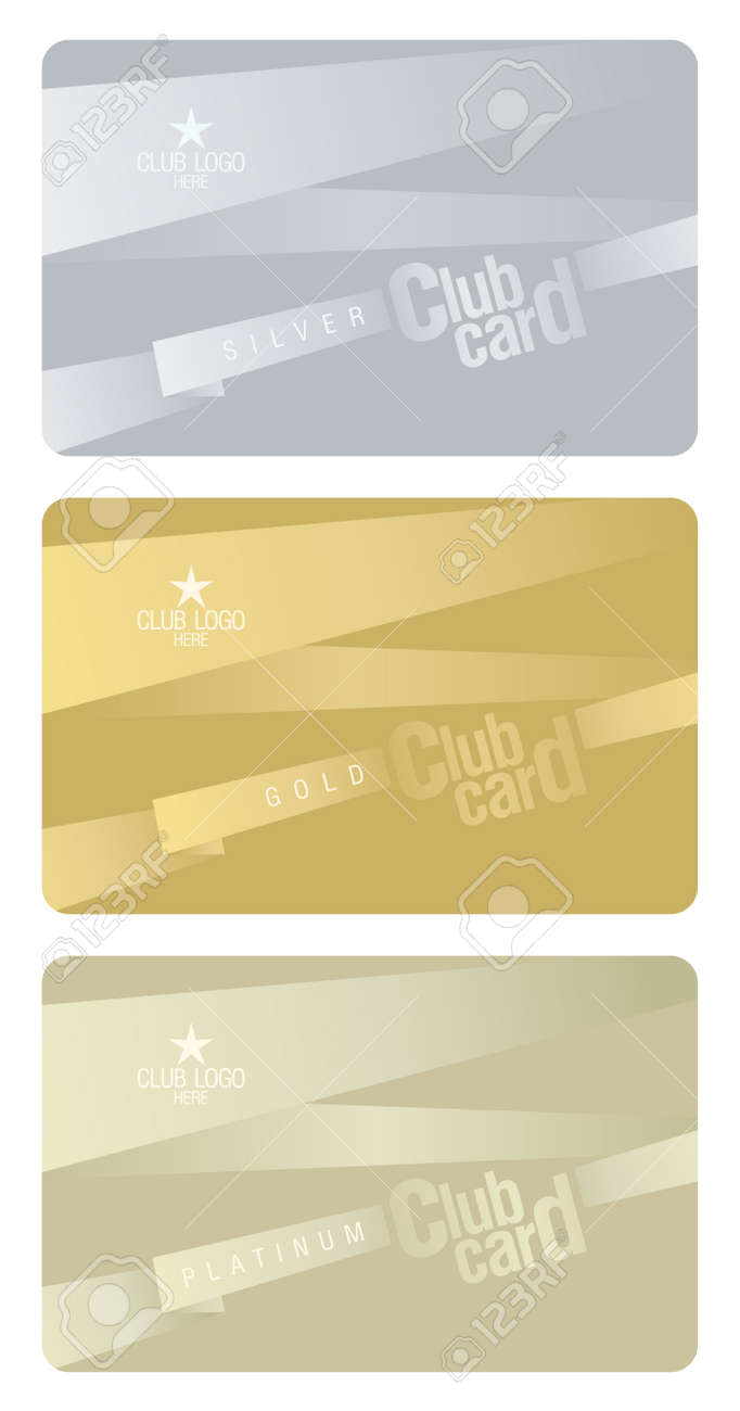 Club plastic cards design template. Stock Vector - 11905861