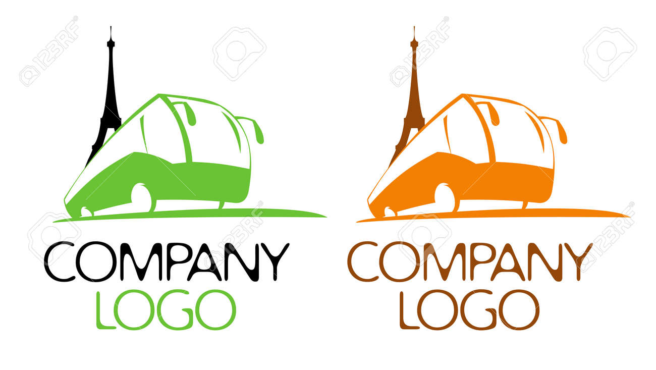bus tour logo design template royalty free cliparts vectors and