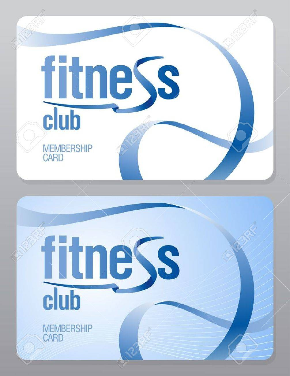 Marvelous Fitness Club Membership Card Design Template. Stock Vector   11905865 Intended For Club Membership Card Template