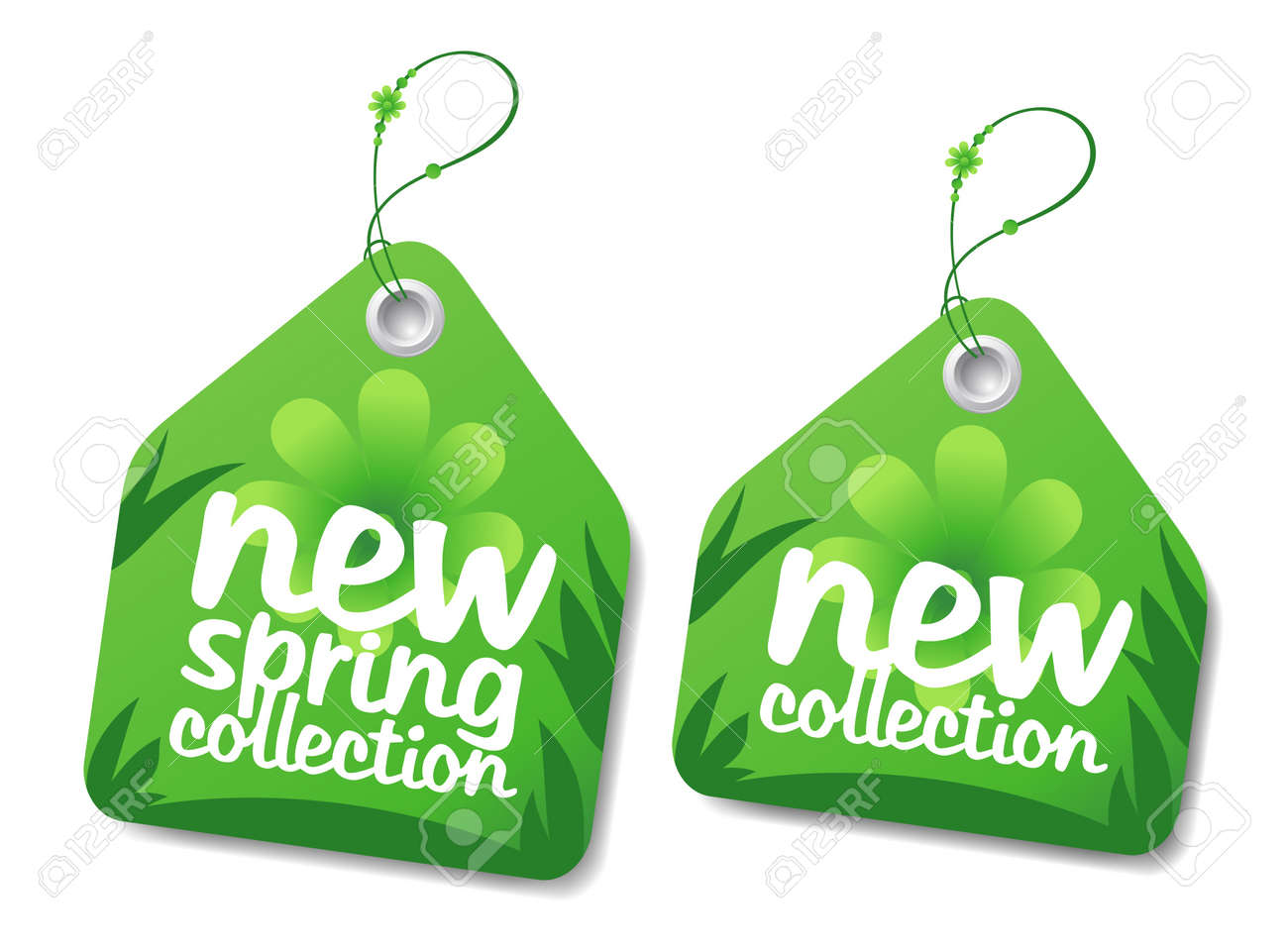 Images of Three Spring Sales Labels - #SC