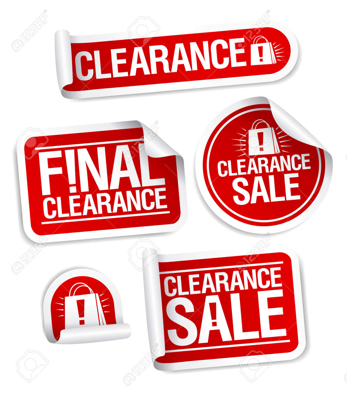 Final clearance sale stickers. Stock Vector - 11976666