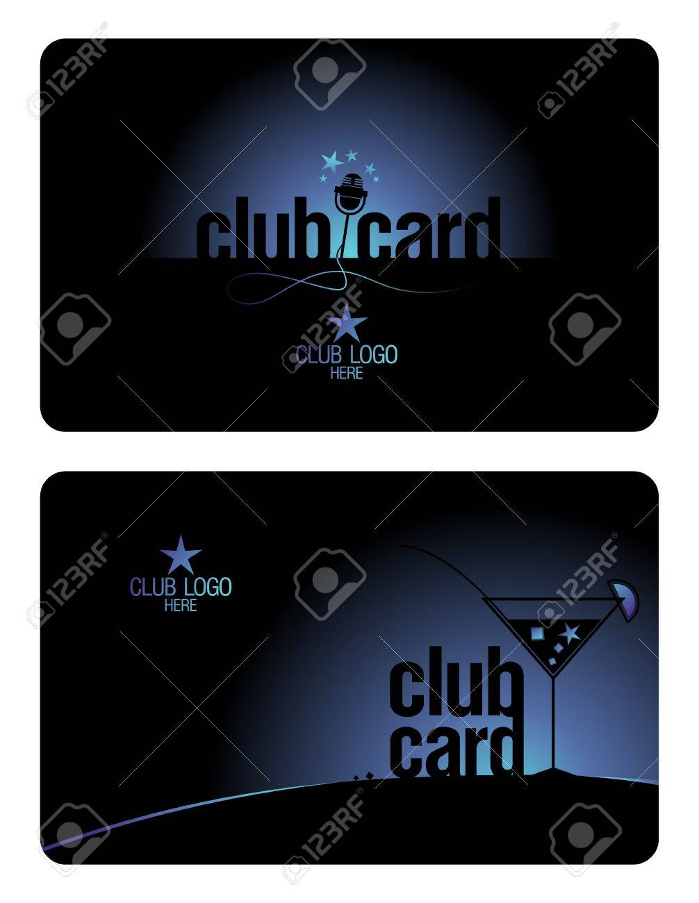 Club Plastic Card Design Template For Karaoke And Lounge Clubs