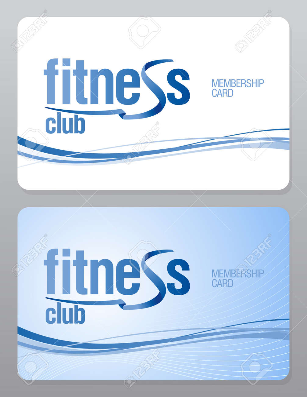 Fitness Club Membership Card Design Template Royalty Free – Membership Card Samples