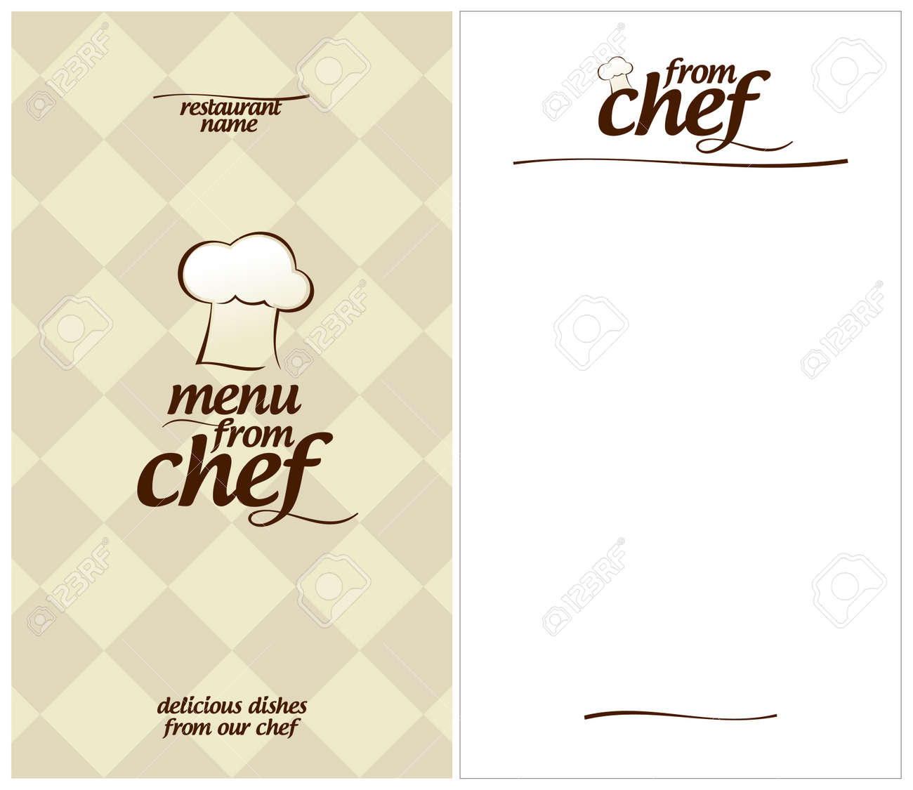 Special Menu From Chef Design Template And The Form For A List Of ...