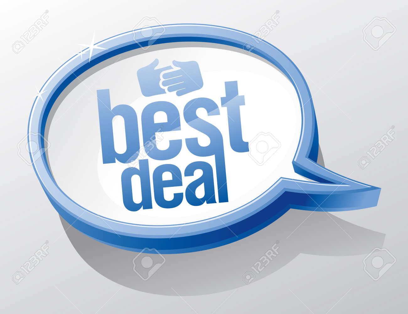 Best deal shiny glass speech bubble Stock Vector - 12486447