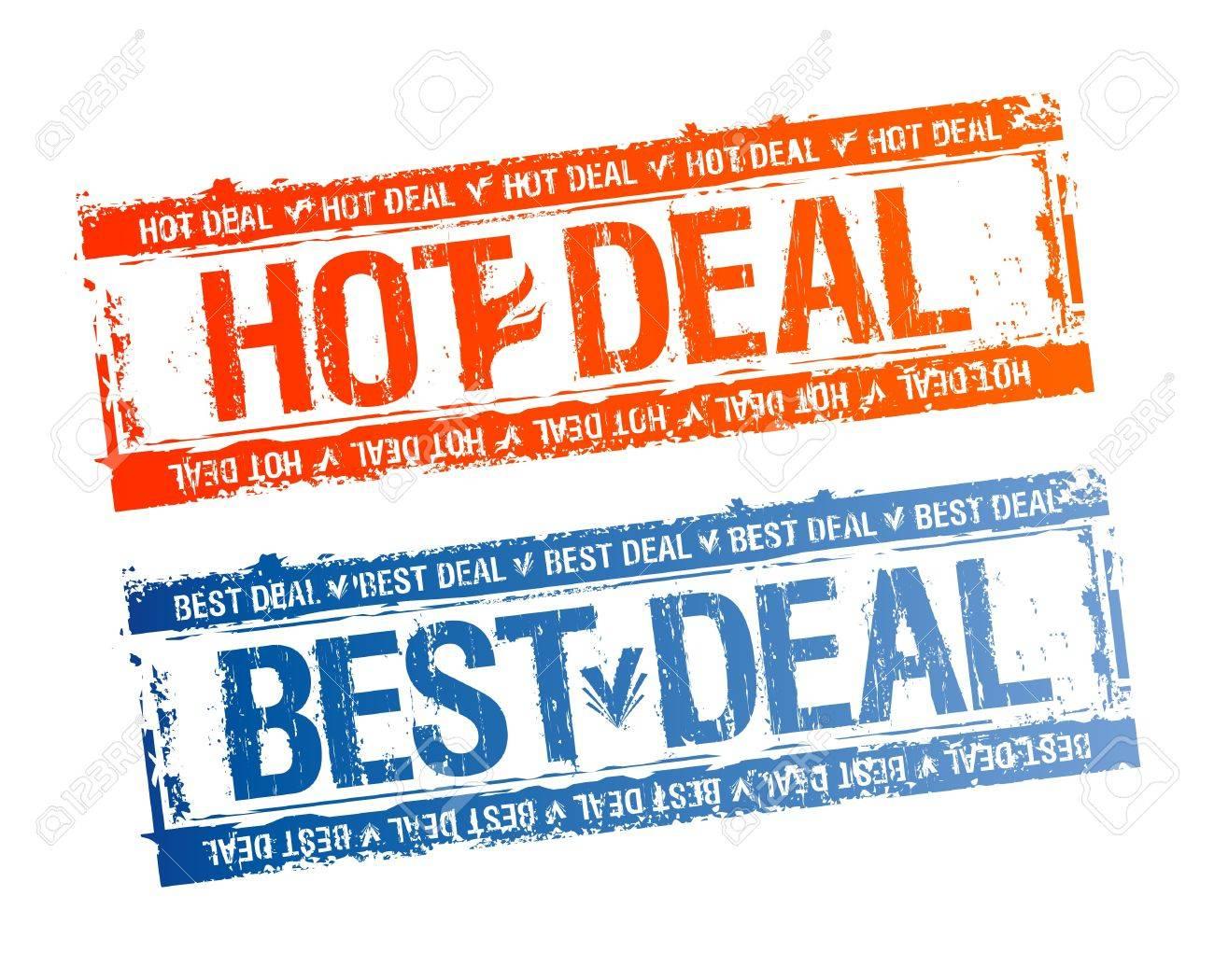 Best hot deal rubber stamps set. Stock Vector - 12867143