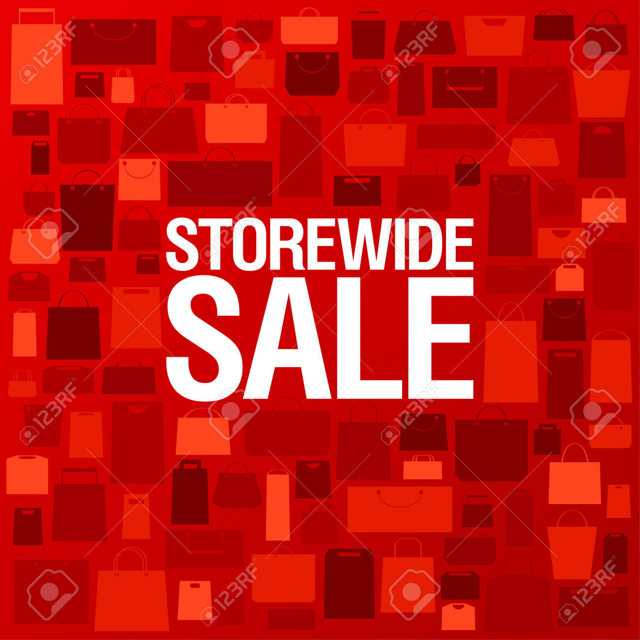 Store wide sale, bright background with shopping bags. Stock Vector - 12867140