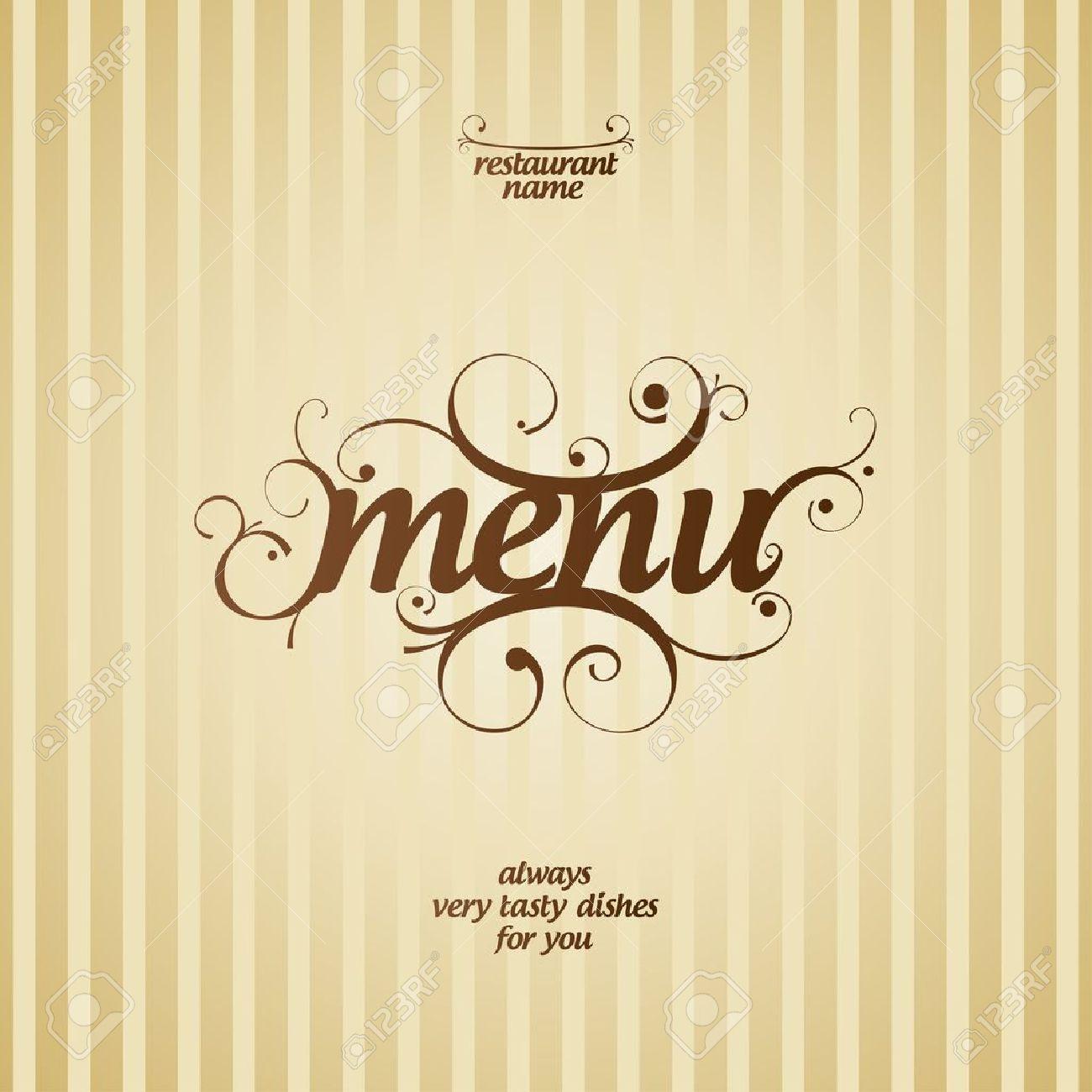 Restaurant-Menü-Card Design-Vorlage Lizenzfrei Nutzbare ...