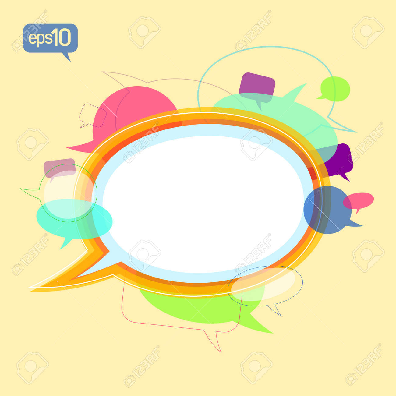 Communication concept design template with speech bubbles signs Stock Vector - 13300561