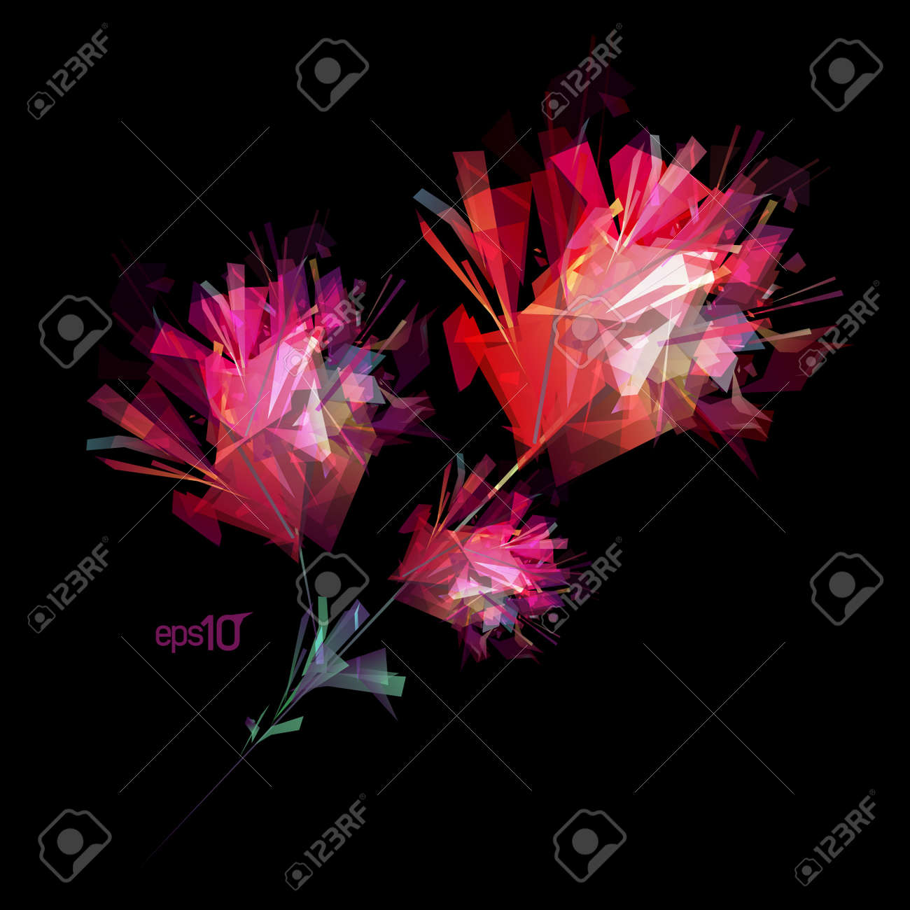 Abstract flower design template Stock Vector - 13300596