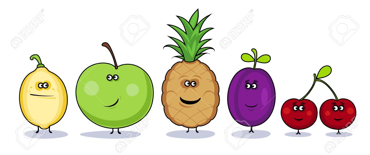 Funny cartoon vegetables symbols. Stock Vector - 13300548
