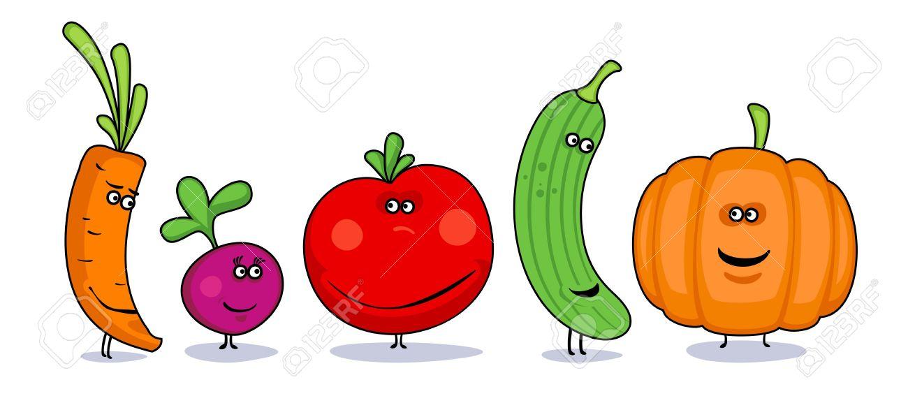 Humor Verduras Símbolos De Dibujos Animados