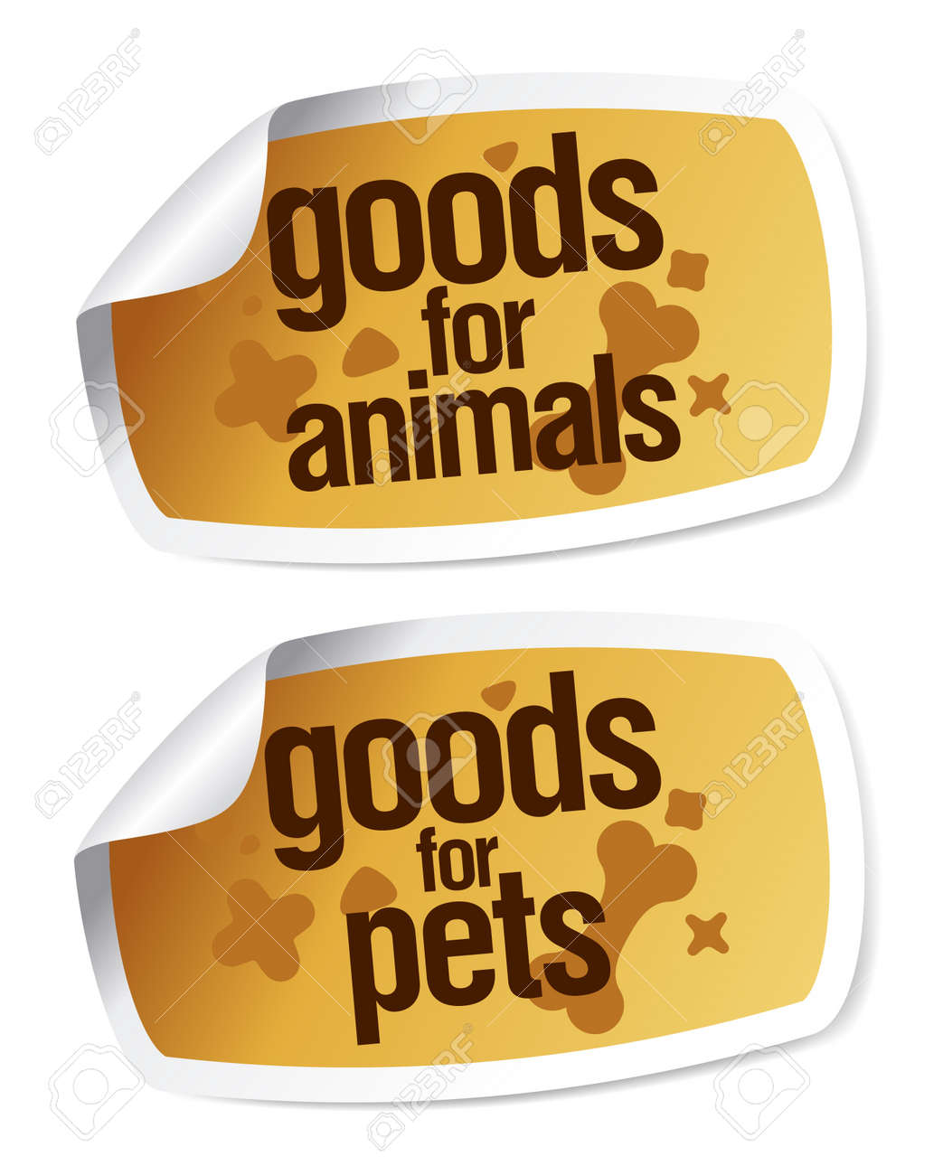 Goods for pets stickers set Stock Vector - 13403500