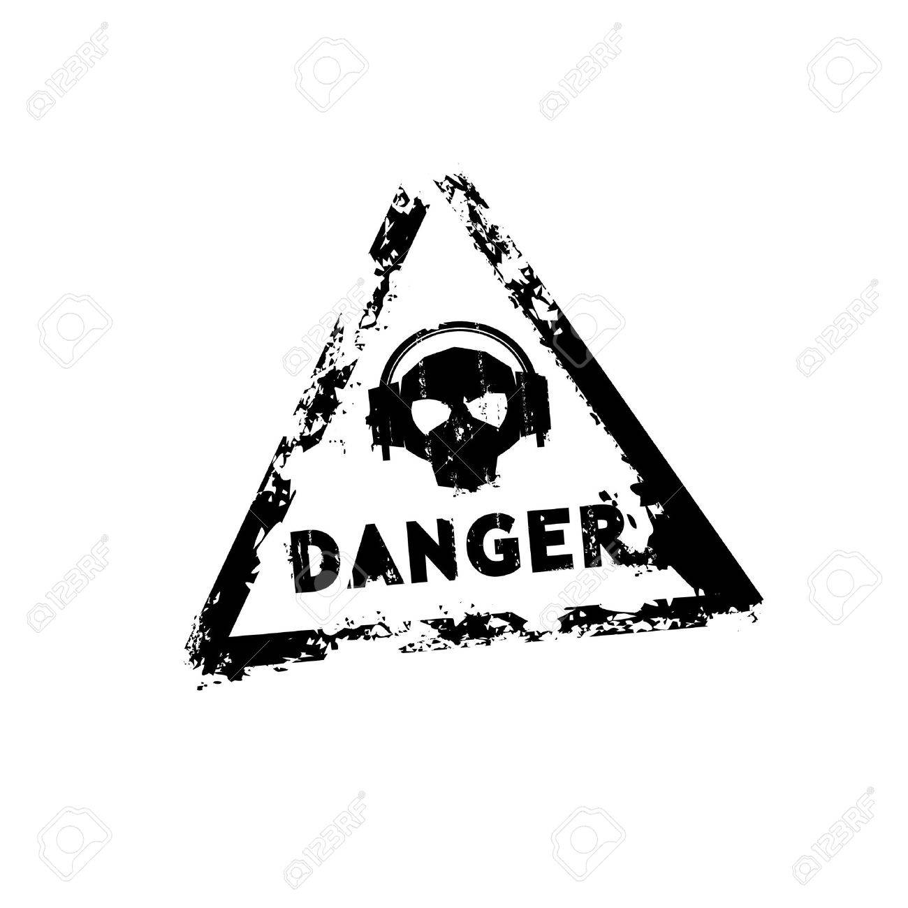 Danger sound rubber stamp Stock Vector - 13716658