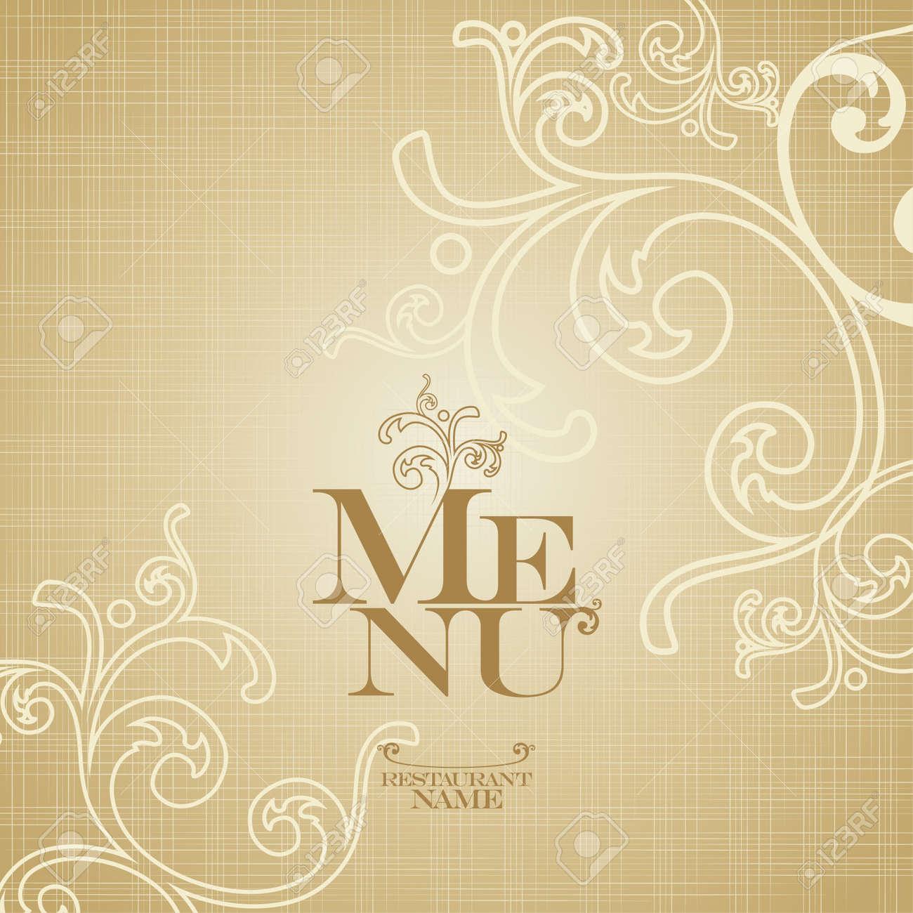 restaurant menu card design template. royalty free cliparts, vectors