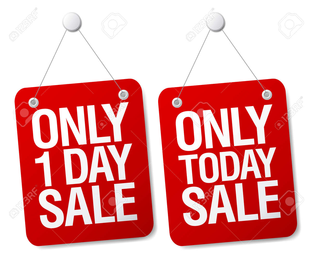 Only 1 day sale signs set. Stock Vector - 13716704