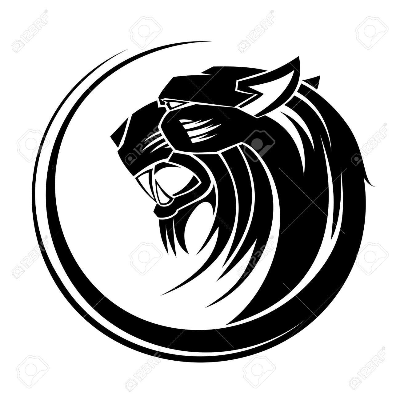 ffec11d54 Lion Circle Tribal Tattoo Art Royalty Free Cliparts, Vectors, And ...