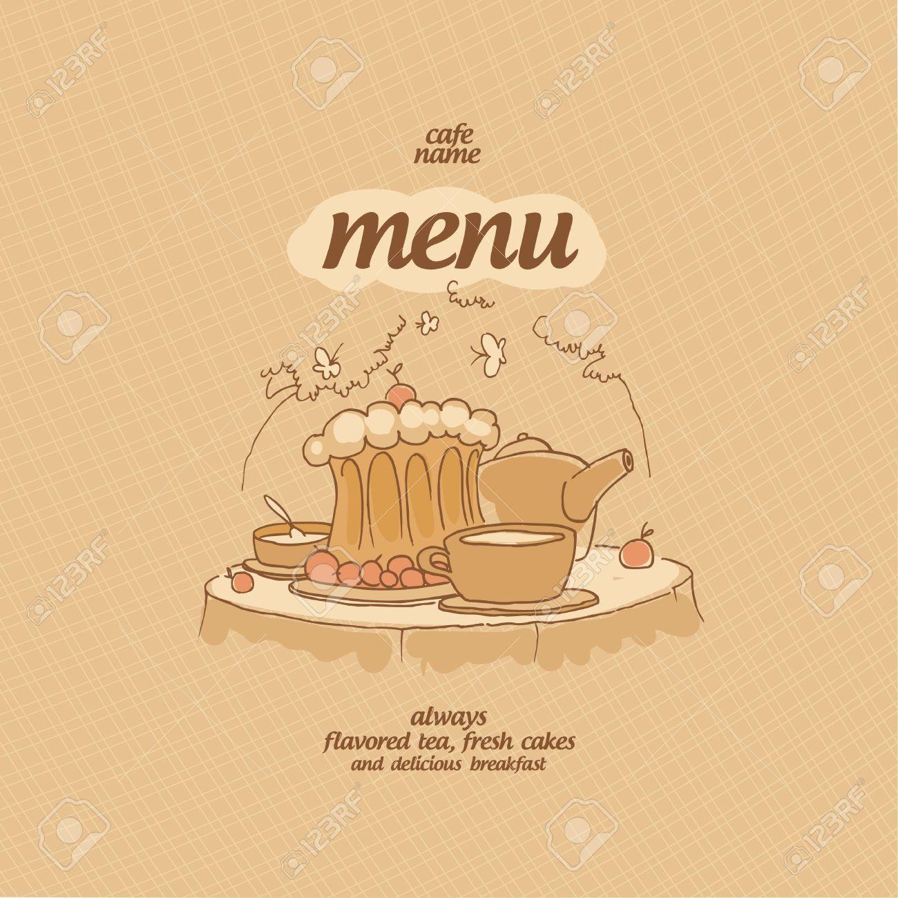 Cafe Menu Card Design template Stock Vector - 14445605