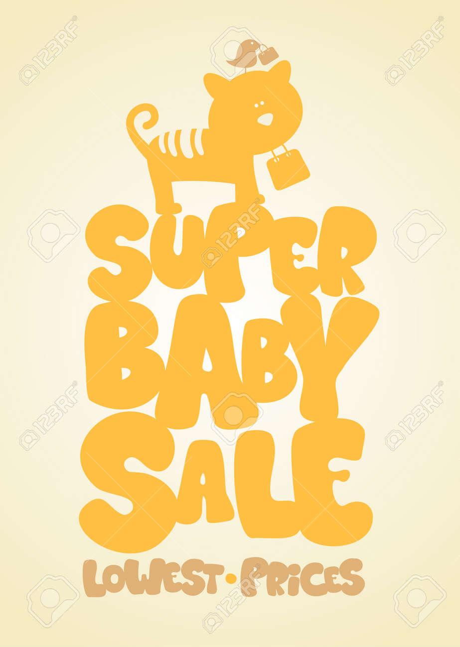 Super sale children Stock Vector - 14445598